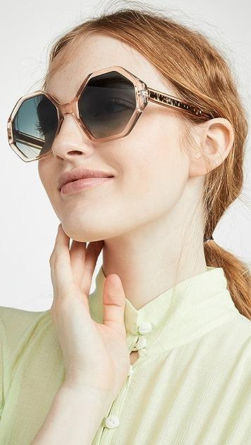 Chloe Восьмиугольные солнцезащитные очки Willow
