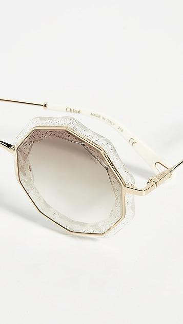 Chloe Солнцезащитные очки Catie с короткими ручками