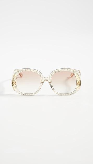 Chloe Солнцезащитные очки Chiara с кристаллами