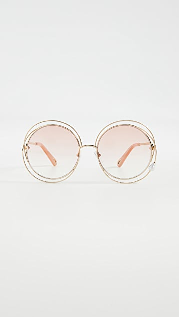 Chloe Carolina Imitation Pearl Sunglasses