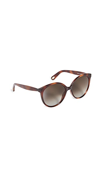 Chloe Elize Acetate Round Sunglasses