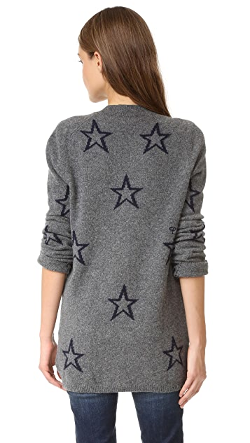 Chinti and Parker Star Outline Cardigan