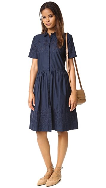Chinti and Parker Broderie Schoolgirl Dress