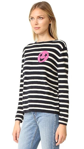 Chinti and Parker Breton Emoji Cashmere Sweater