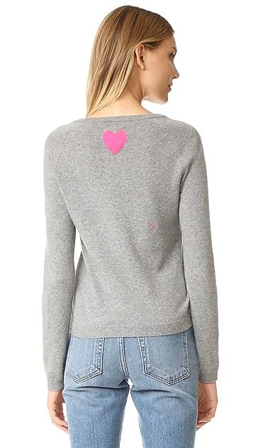 Chinti and Parker Heart Emoji Cashmere Sweater