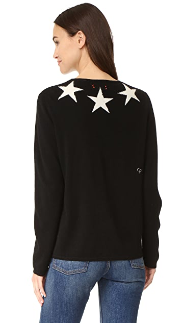 Chinti and Parker Star Cashmere Sweater