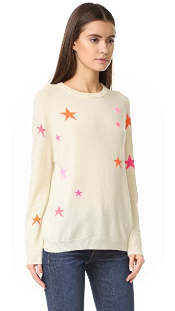 Chinti and Parker Slouchy Star Cashmere Sweater