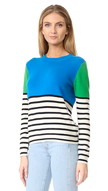 Chinti and Parker Colorblock Stripe Cashmere Sweater