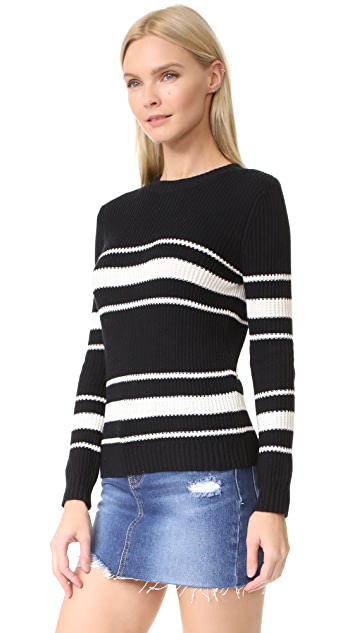 Chinti and Parker Stripe Fisherman Sweater