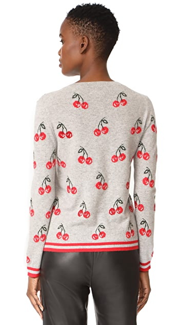Chinti and Parker All Over Cherry Sweater