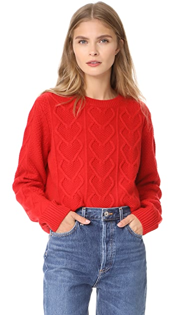 Chinti and Parker Heart Aran Sweater