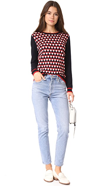 Chinti and Parker Heart Jacquard Sweater