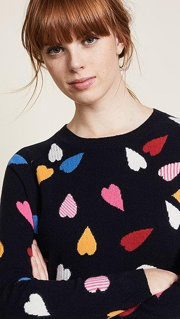 Chinti and Parker Confetti Heart Sweater