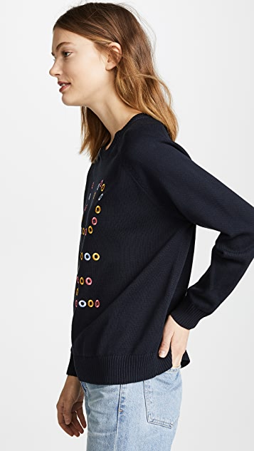 Chinti and Parker Cutout Love Sweater