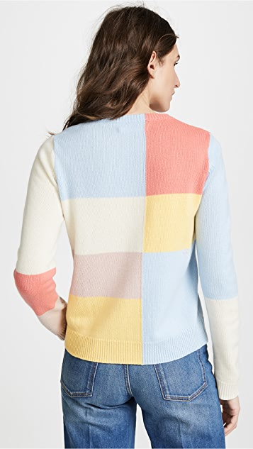 Chinti and Parker Cashmere Mondrian Sweater