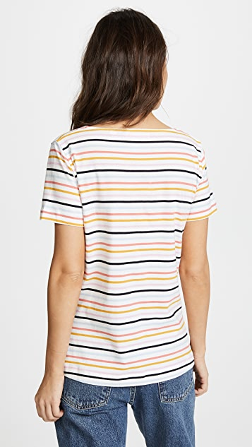 Chinti and Parker Heart Pocket Tee