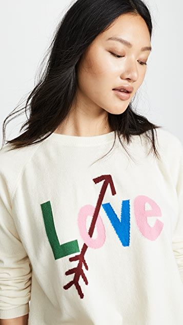 Chinti and Parker Love Arrow Cashmere Sweater