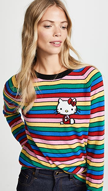 9bce8178d Chinti and Parker Hello Kitty Rainbow Stripe Cashmere Sweater   SHOPBOP