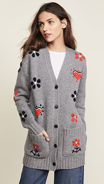 Chinti and Parker Hand Embroidered Milagro Cardigan
