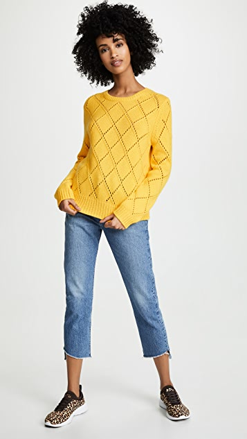 Chinti and Parker Textured Cashmere Harlequin Sweater