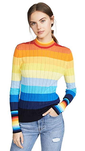 Chinti and Parker Sunset Pointelle Sweater