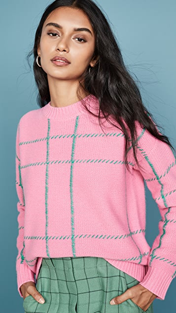 Chinti and Parker Contrast Check Sweater