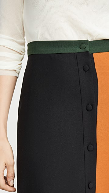 Chinti and Parker Colorblock Skirt