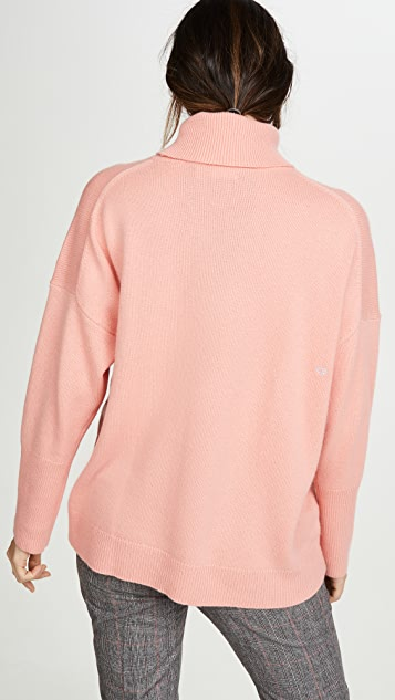 Chinti and Parker Relaxed Polo Cashmere Sweater