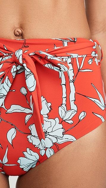 Charlie Holiday Mia Tie High Waisted Bikini Bottom