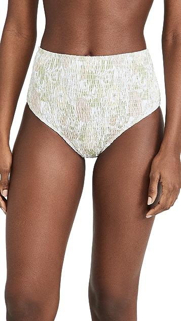 Charlie Holiday Newport Smocked Bikini Briefs