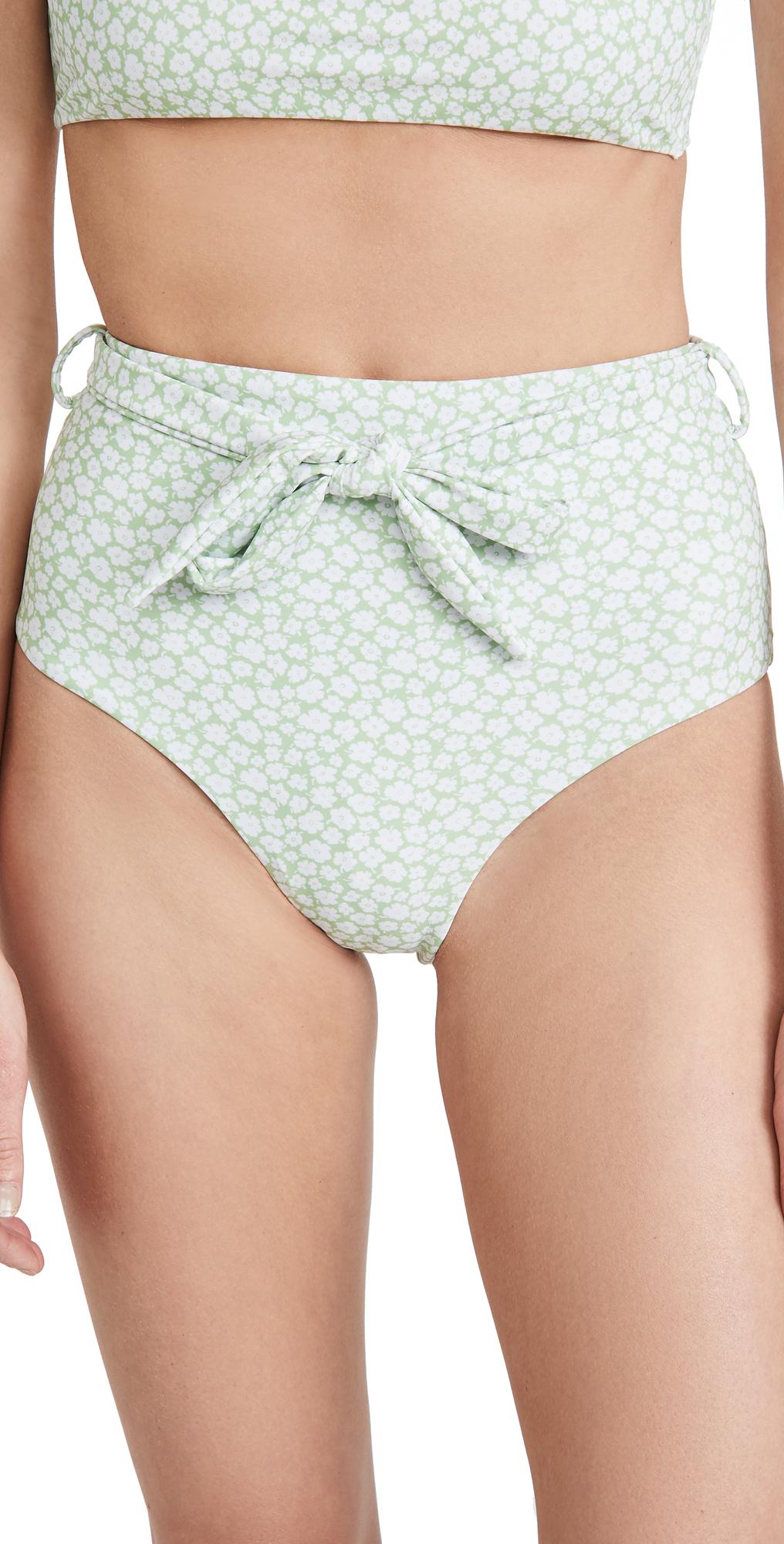 Charlie Holiday Cabana High Waisted Bikini Bottoms