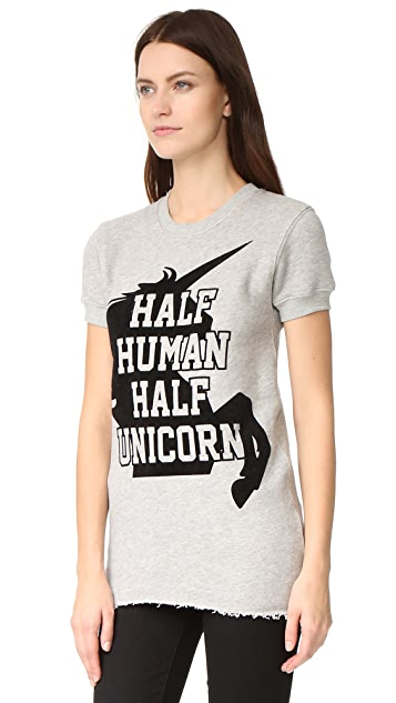 CHRLDR Half Unicorn Short Sleeve Sweatshirt