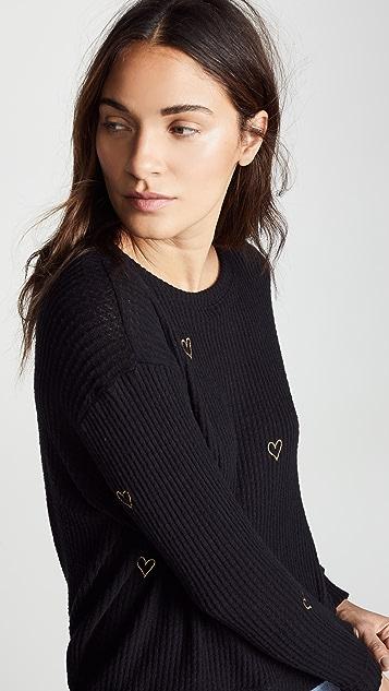 CHRLDR Lurex Heart Sweater