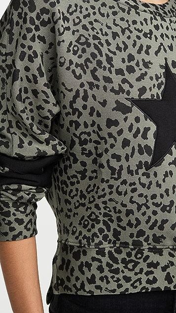 CHRLDR Leopard Print Dropped Shoulder Sweatshirt