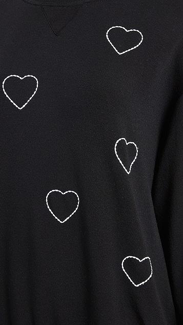 CHRLDR 心形缝线运动衫