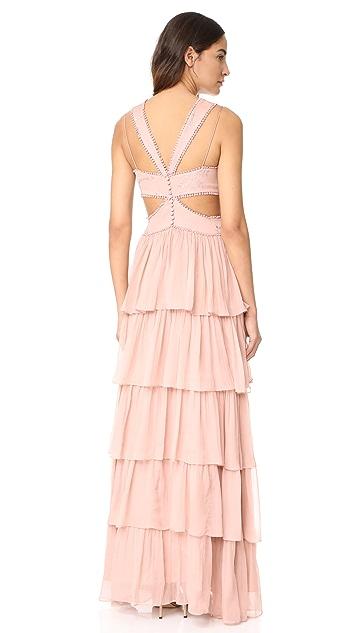 Cinq a Sept Leda Silk Gown