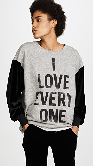 Cinq a Sept I Love Everyone Sweatshirt