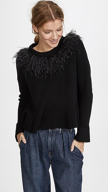 Cinq a Sept Emira Pullover - Black/Black