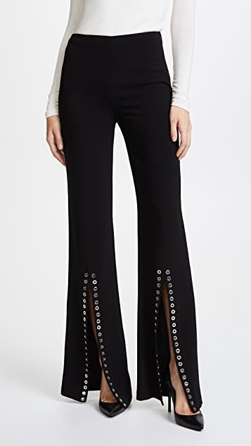 Cinq a Sept Viera Grommet Pants - Black