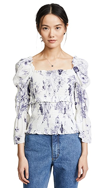 Cinq a Sept Adelaide Inky Floral Top