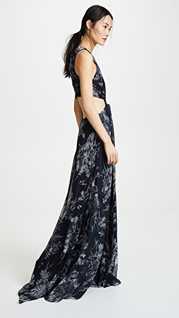 Cinq a Sept Inky Floral Goldie Dress
