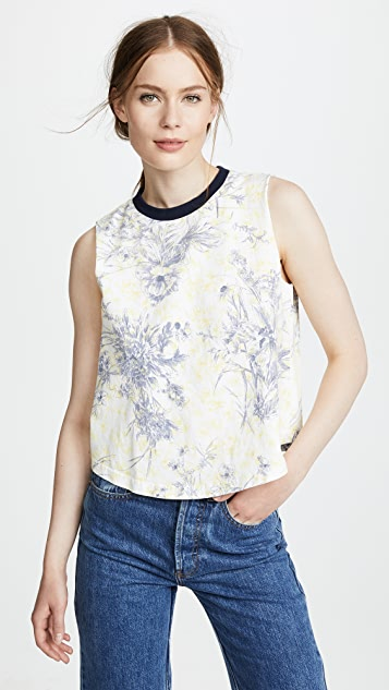Cinq a Sept Ditsy Muscle Tee