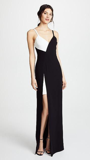 Cinq a Sept Lita Gown - Black/Ivory