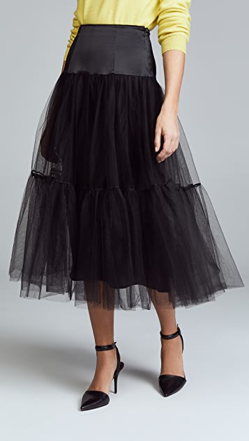 Cinq a Sept Avery Tulle Skirt - Black