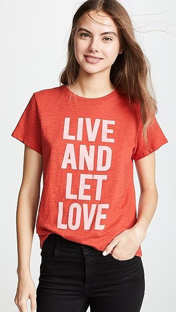 Cinq A Sept Tous Les Jours Live And Let Love Tee