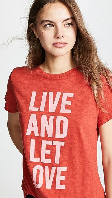 Cinq a Sept Футболка Tous Les Jours с надписью «Live And Let Love»
