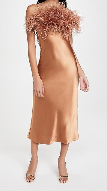 Cinq a Sept Satin Cerise Dress