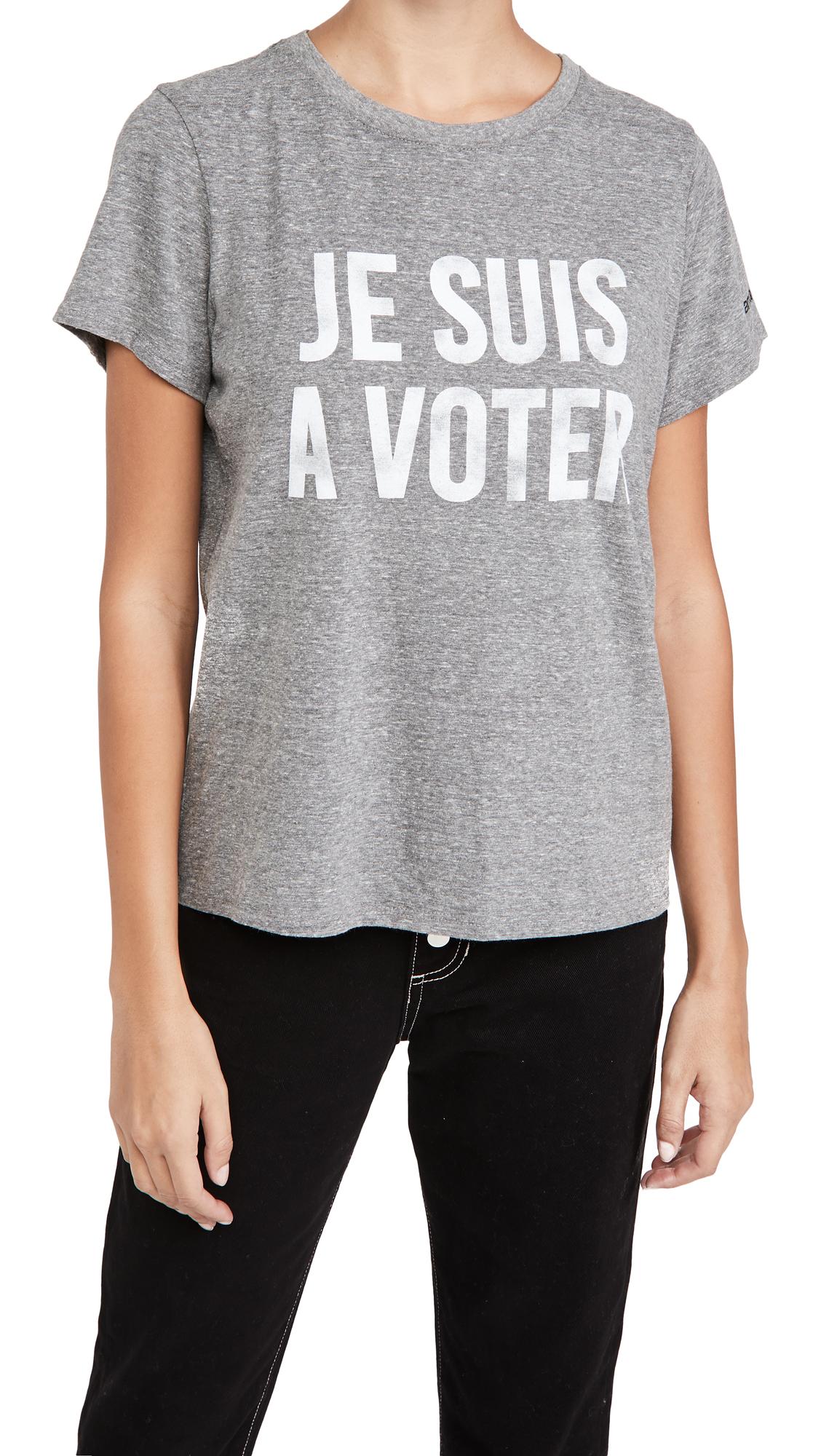Cinq a Sept x I Am A Voter Je Suis A Voter Tee
