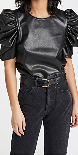Cinq a Sept - Faux Leather Erin Top