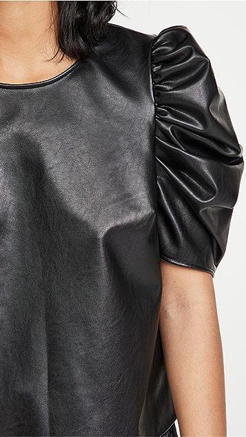 Cinq a Sept Faux Leather Erin Top